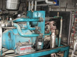 The inside of a CHP Combined Heat and Power Plant