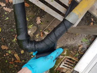 Corrosion protection wrap is used to protect pipes and other metalwork from corrosion and strengthening other structures