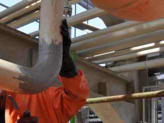 Epoxy coating and epoxy paste can be used for sealing holes and cracks in pipes and providing protective layers resistant to chemicals and corrosion