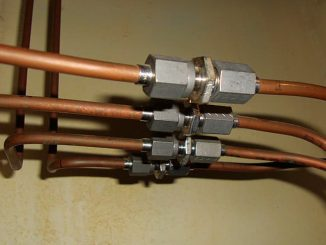 Domestic copper water pipe will often require repair after been acidentally drilled into during DIY or home improvement projects