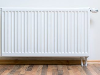 Central heating system supply heat to radiators from a central boiler via a series of pipes